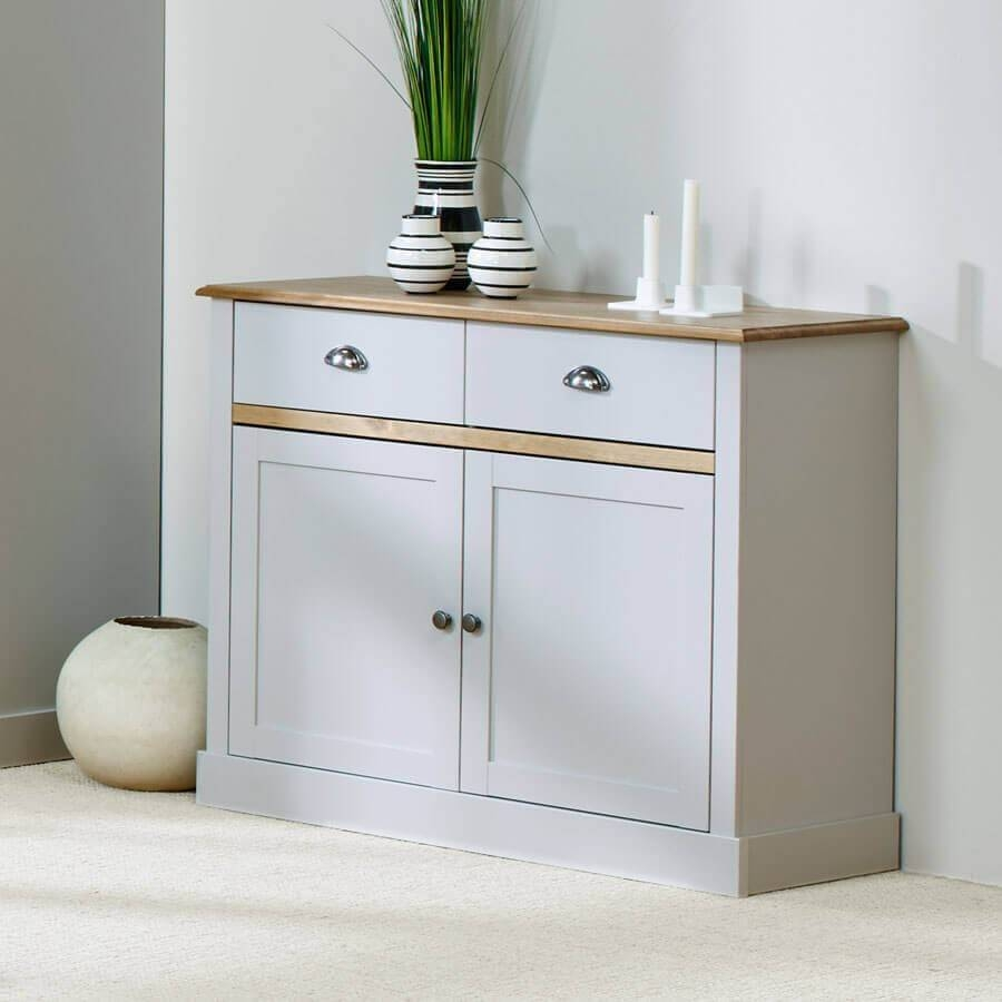 Sandy Grey Large And Small Sideboards | Sideboards At Zurleys Uk with Grey Sideboards (Image 17 of 30)