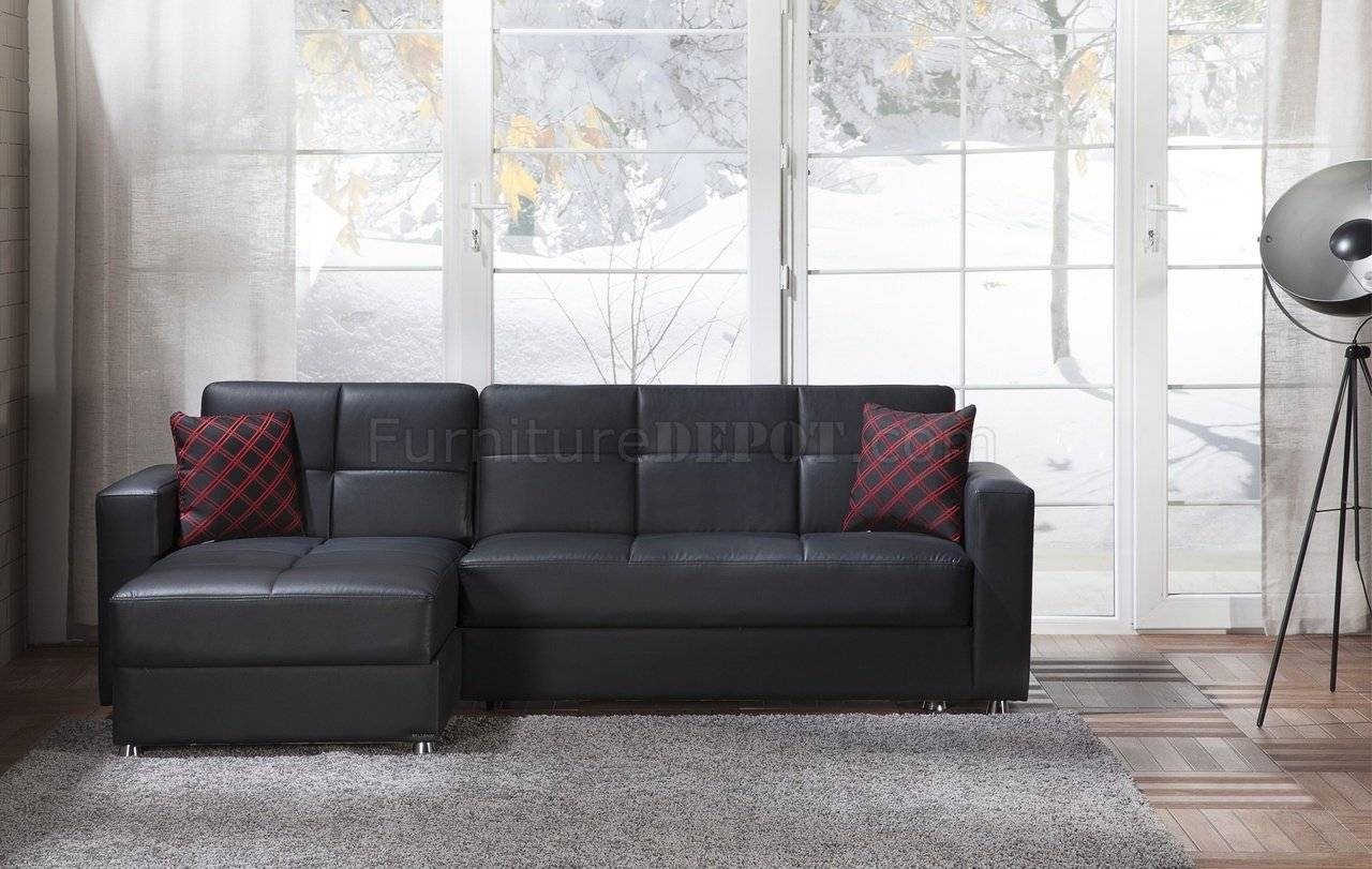 Santa Glory Black Sectional Sofa In Pusunset throughout Elegant Sectional Sofas (Image 27 of 30)