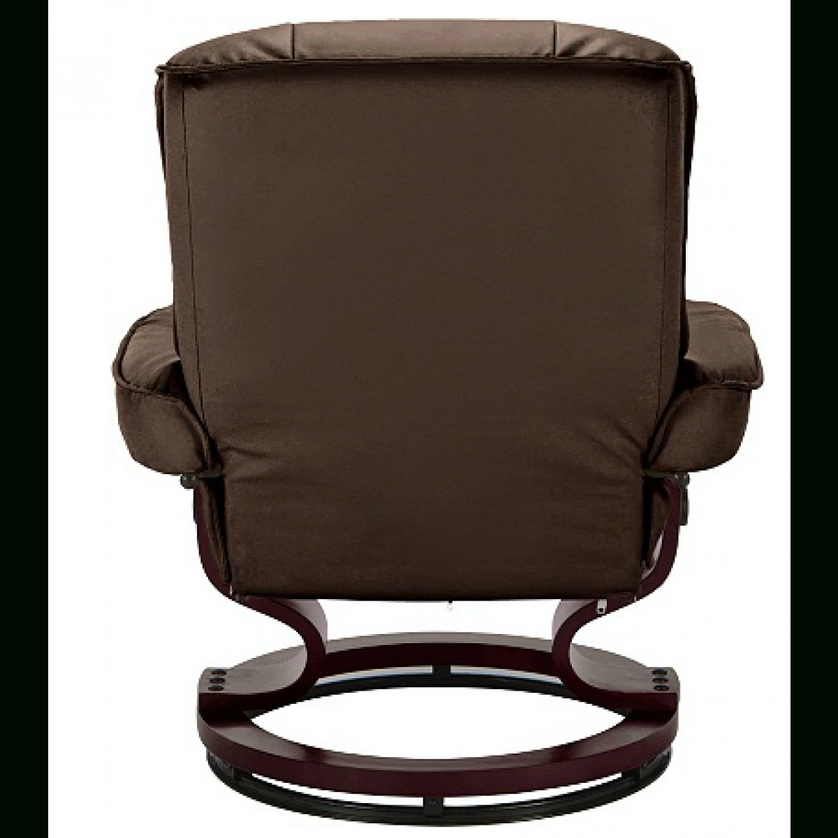 Santos Leather Recliner Chair And Footstool - Chocolate. - Furnico with Leather Footstools (Image 24 of 30)