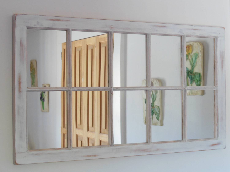 Sashmaker Window Mirrorssashmaker On Etsy Inside Shabby Chic Window Mirrors (View 16 of 25)