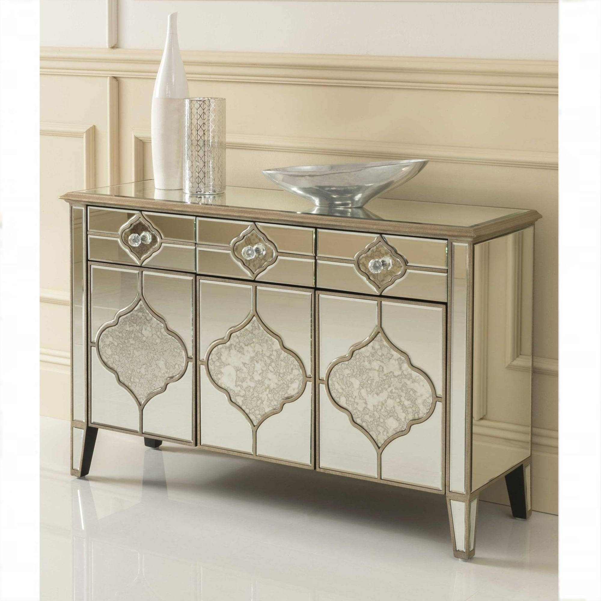 Sassari Mirrored Sideboard | Venetian Glass Furniture regarding Mirrored Sideboards (Image 22 of 30)