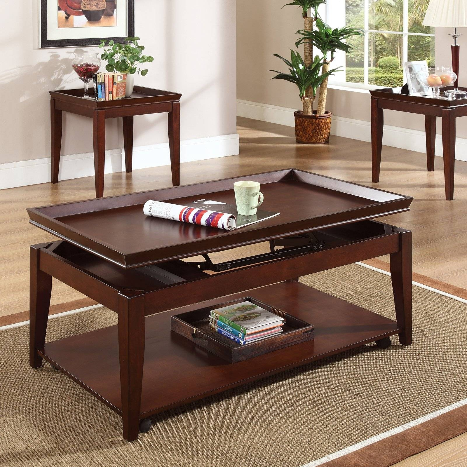 Sauder Carson Forge Lift Top Coffee Table. Coffee Table End Tables with Pull Up Coffee Tables (Image 28 of 30)