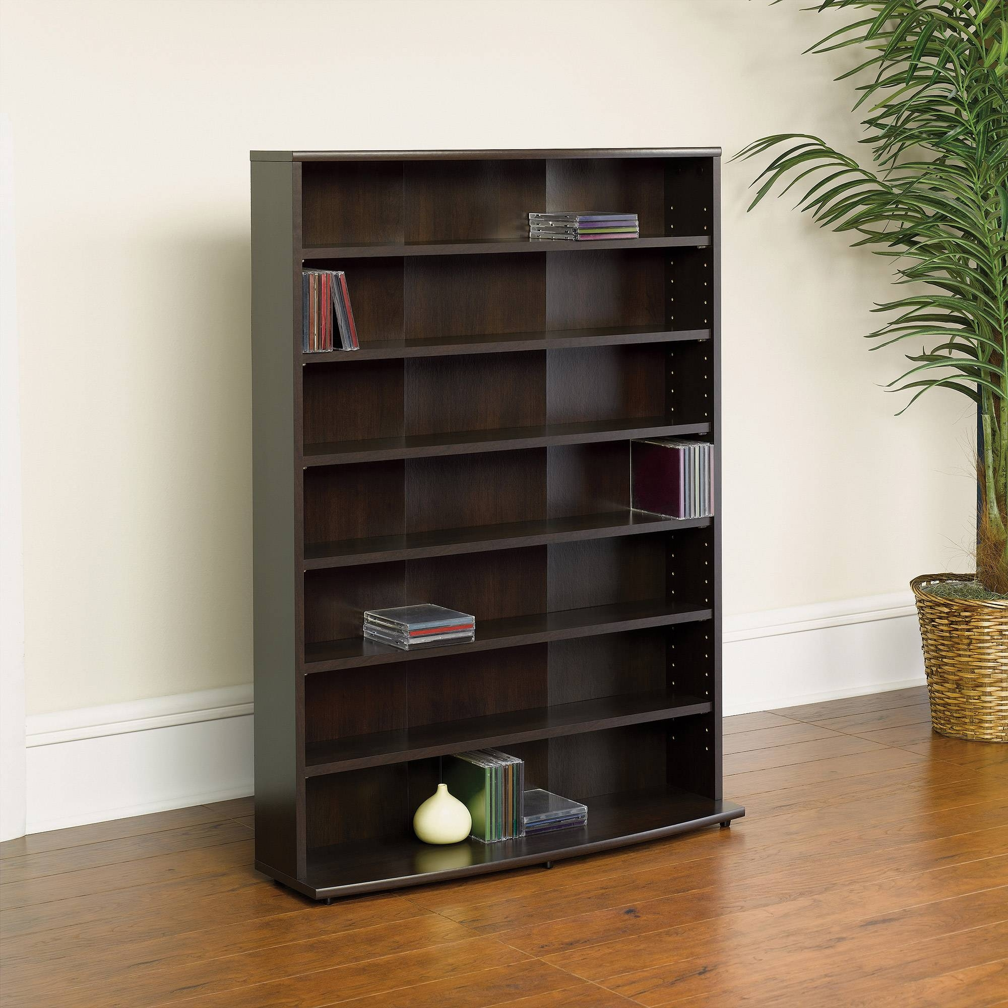 Sauder O'sullivan Multimedia Storage Tower, Cinnamon Cherry with Cd Storage Coffee Tables (Image 20 of 30)