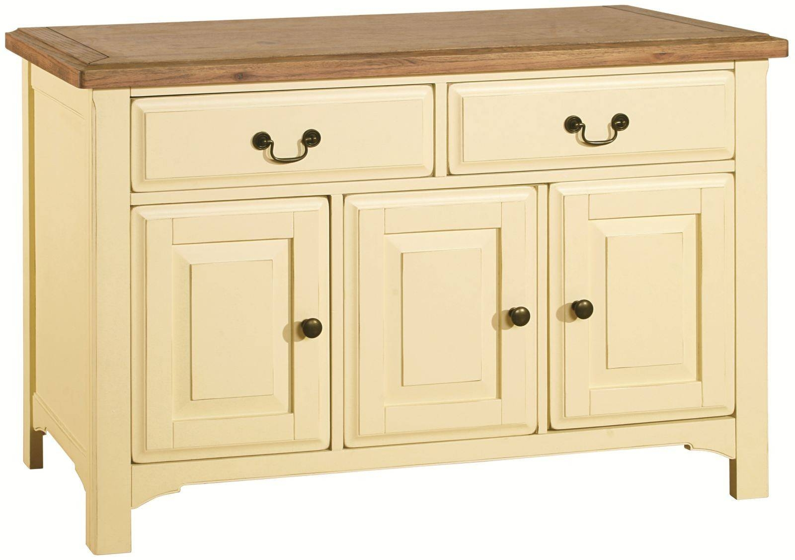 Savannah Country Cream Painted Large Sideboard pertaining to Cream Sideboards (Image 18 of 30)
