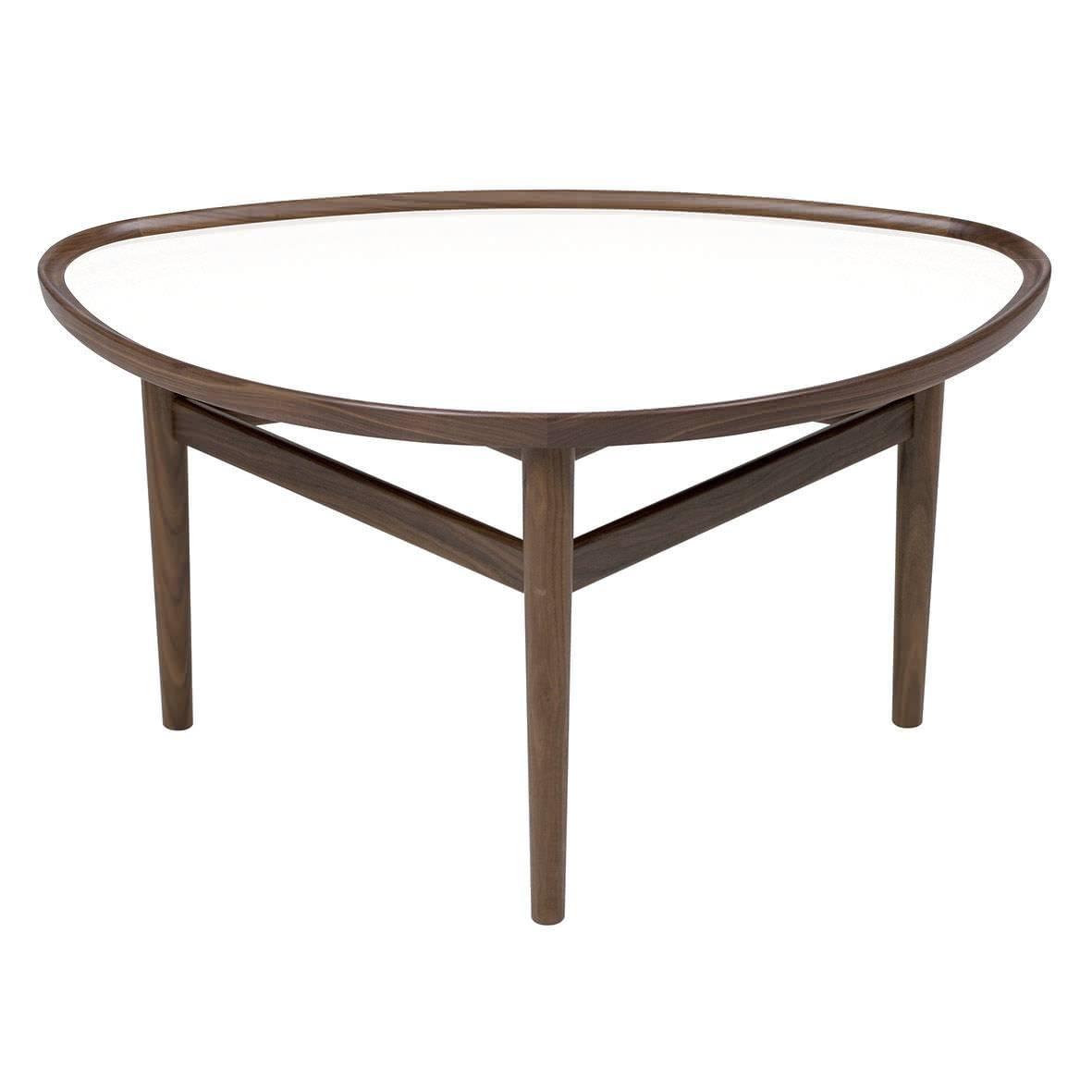 Scandinavian Design Coffee Table / Walnut / Teak / Oval – Eye Inside Oval Walnut Coffee Tables (View 20 of 30)