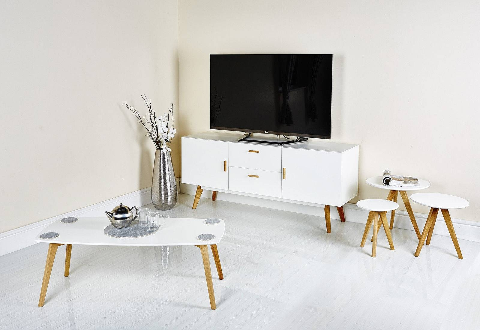 Scandinavian Retro Range Furniture Tv Stand Nest Table Side Dining with Retro White Coffee Tables (Image 27 of 30)