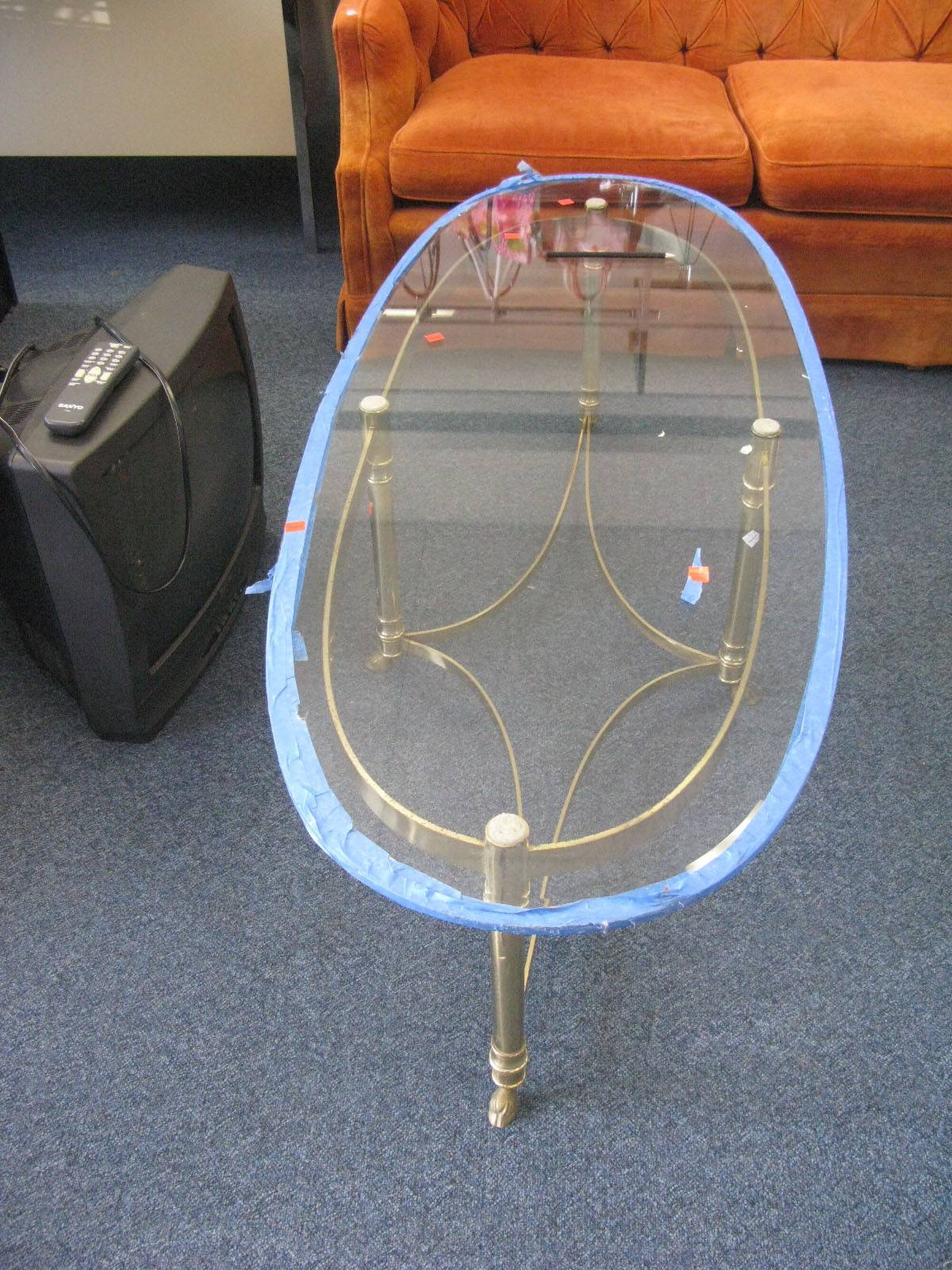 Score: Vintage Brass And Glass Coffee Table - Eddie Ross regarding Antique Brass Glass Coffee Tables (Image 31 of 37)