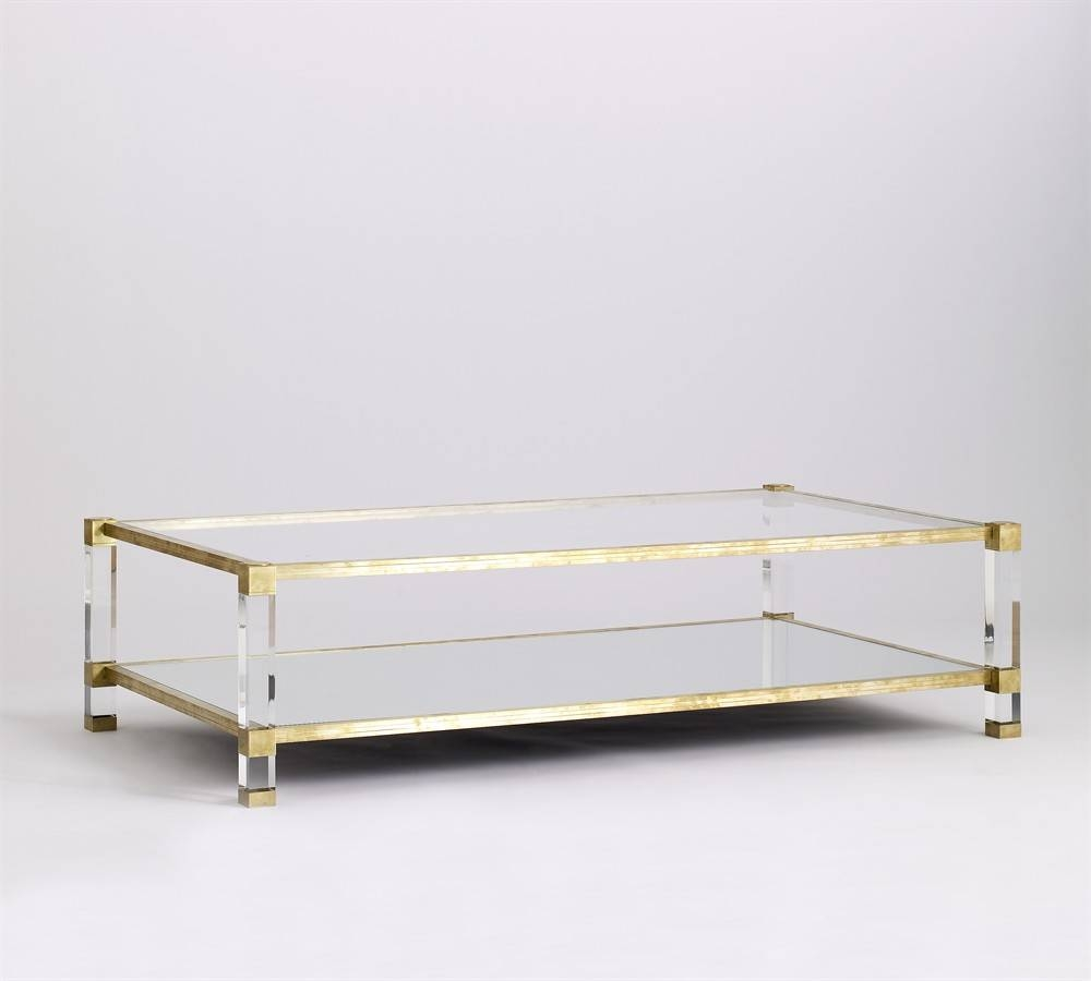 Scroll Lucite Coffee Table — Liberty Interior : How To Build A inside Antique Brass Glass Coffee Tables (Image 32 of 37)