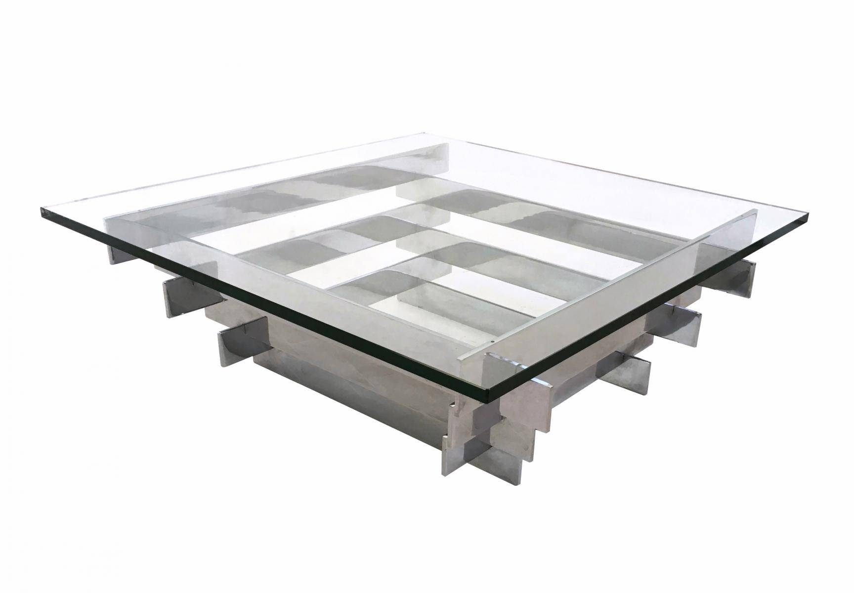 Sculpturally Stacked Chrome Coffee Tabledavid Hicks, 1960S For With Regard To Chrome Coffee Tables (View 23 of 30)