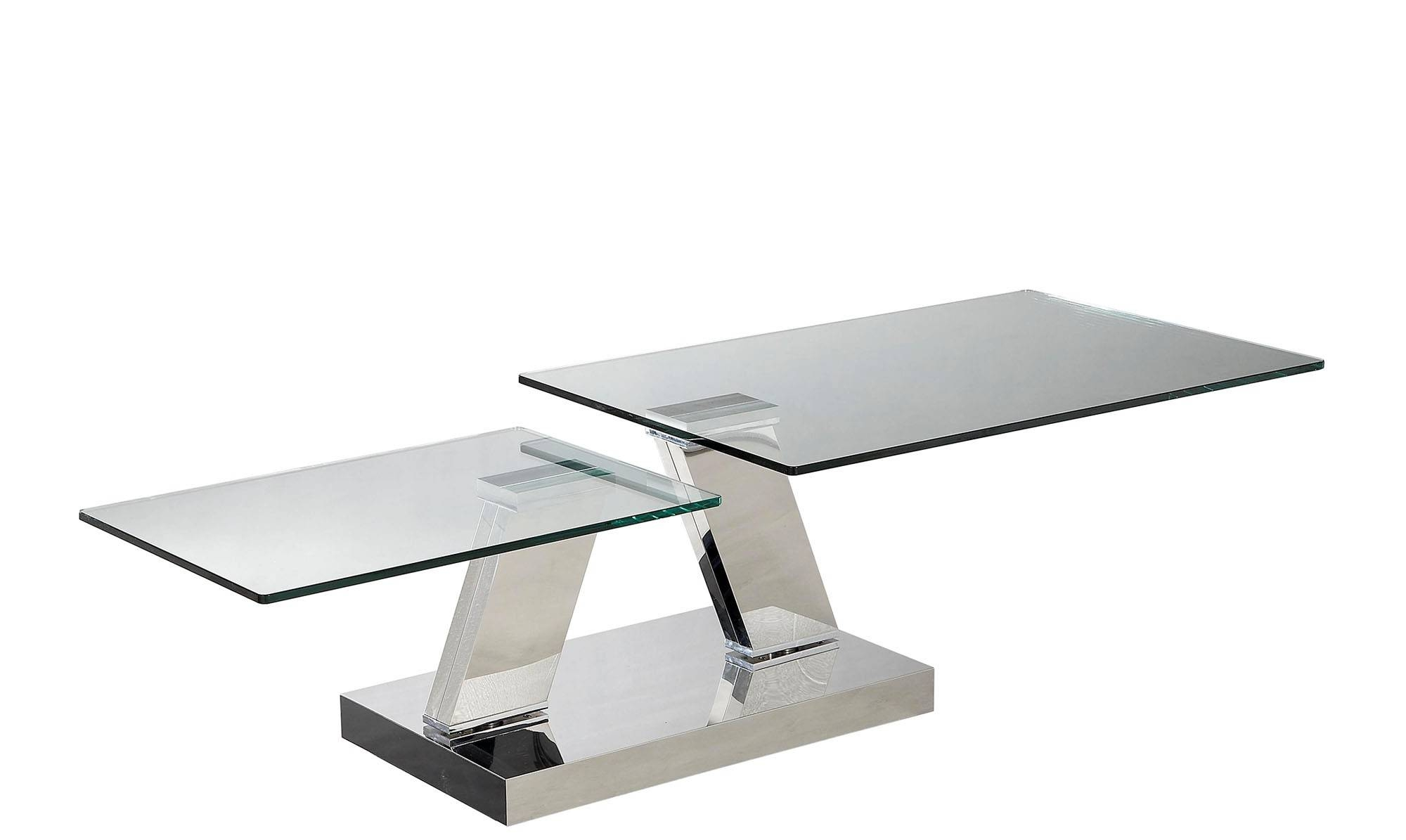 Se130C Modern White Lacquer Swivel Coffee Table With Storage Glass for Round Swivel Coffee Tables (Image 23 of 30)