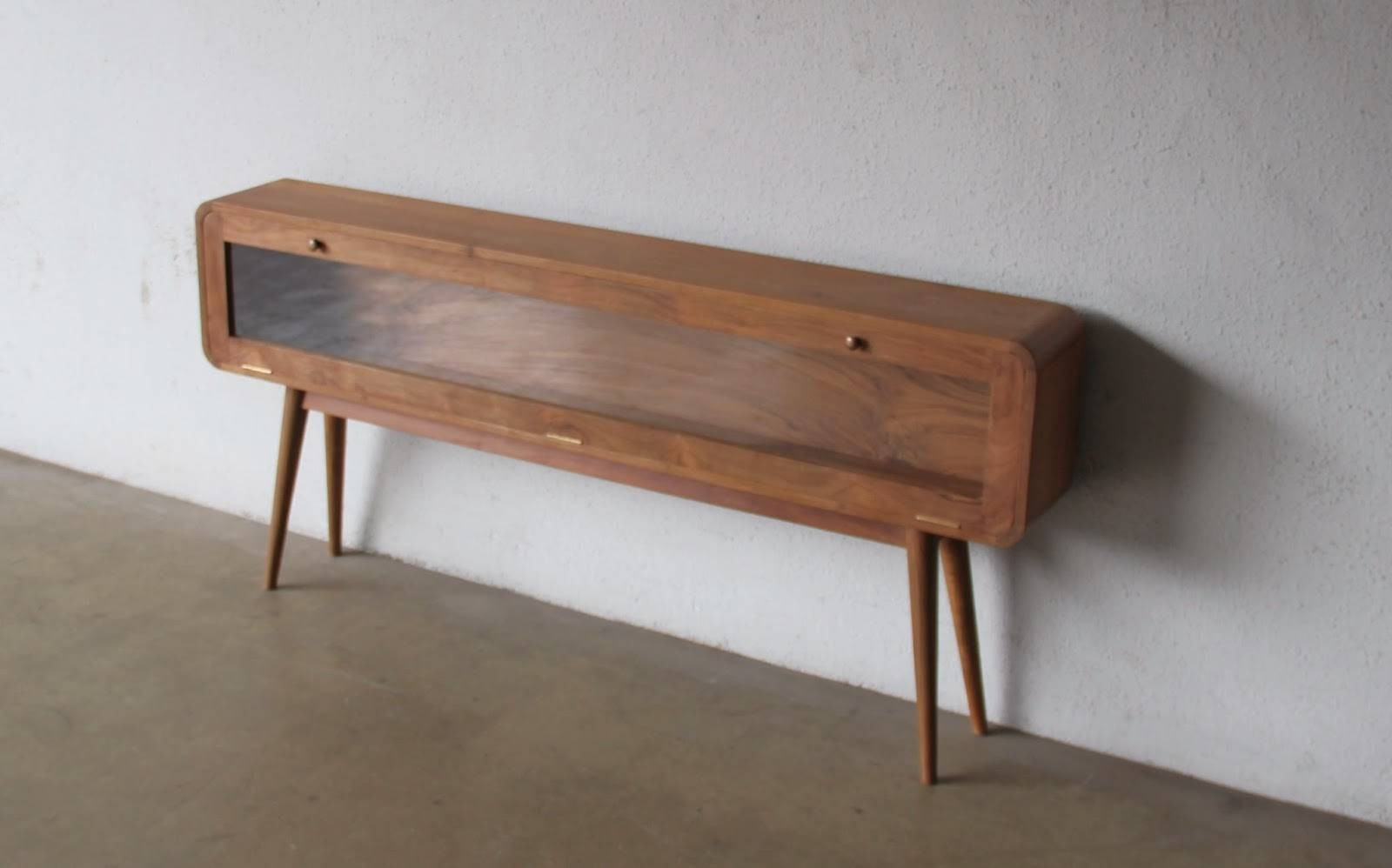 Second Charm Furniture - Mid Century Modern Influence | Bobs Furniture pertaining to Long Narrow Sideboards (Image 15 of 30)