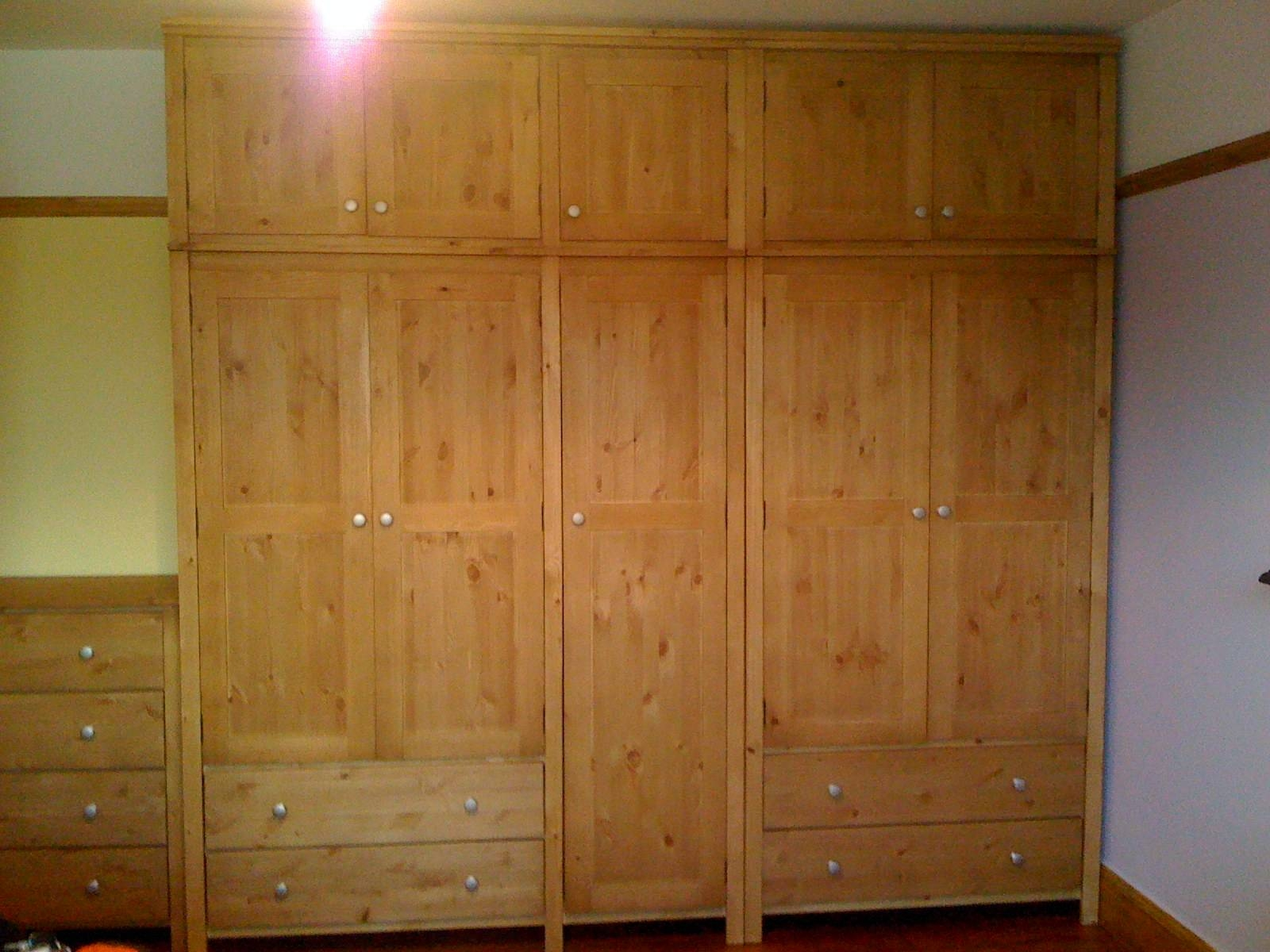 Second Hand Pine Bedroom Furniture Reclaimed Wood Sets Cheap with Cheap Triple Wardrobes (Image 7 of 15)