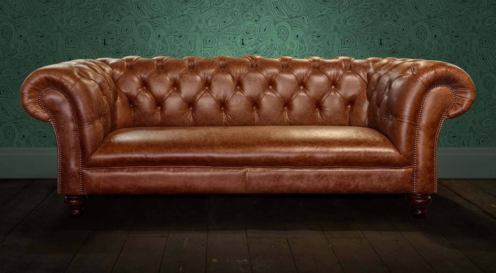 Second Hand Sofas Uk - Leather Sectional Sofa intended for Small Chesterfield Sofas (Image 14 of 30)