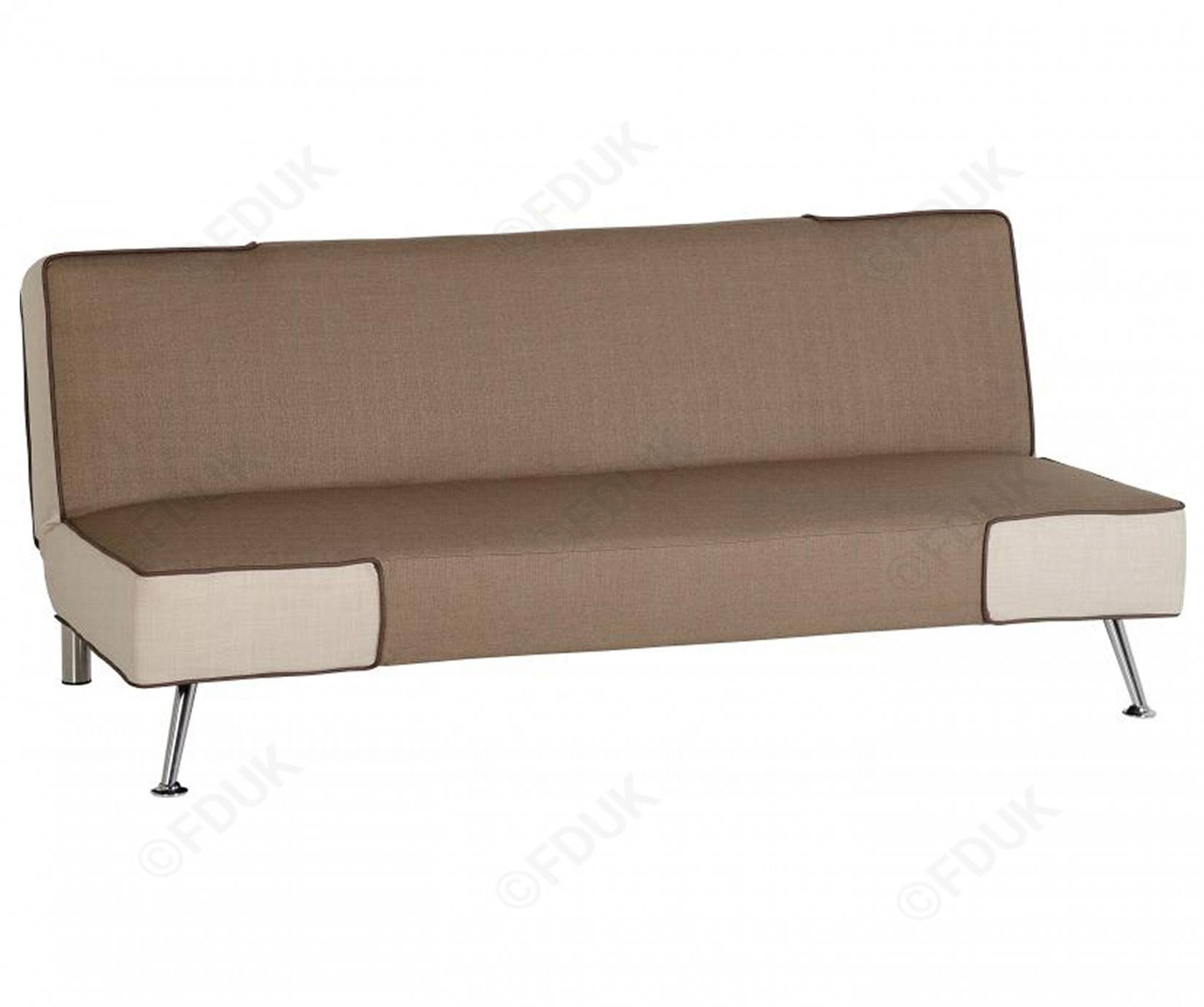 Seconique | Florence Brown And Cream Fabric Sofa Bed regarding Florence Sofa Beds (Image 17 of 25)