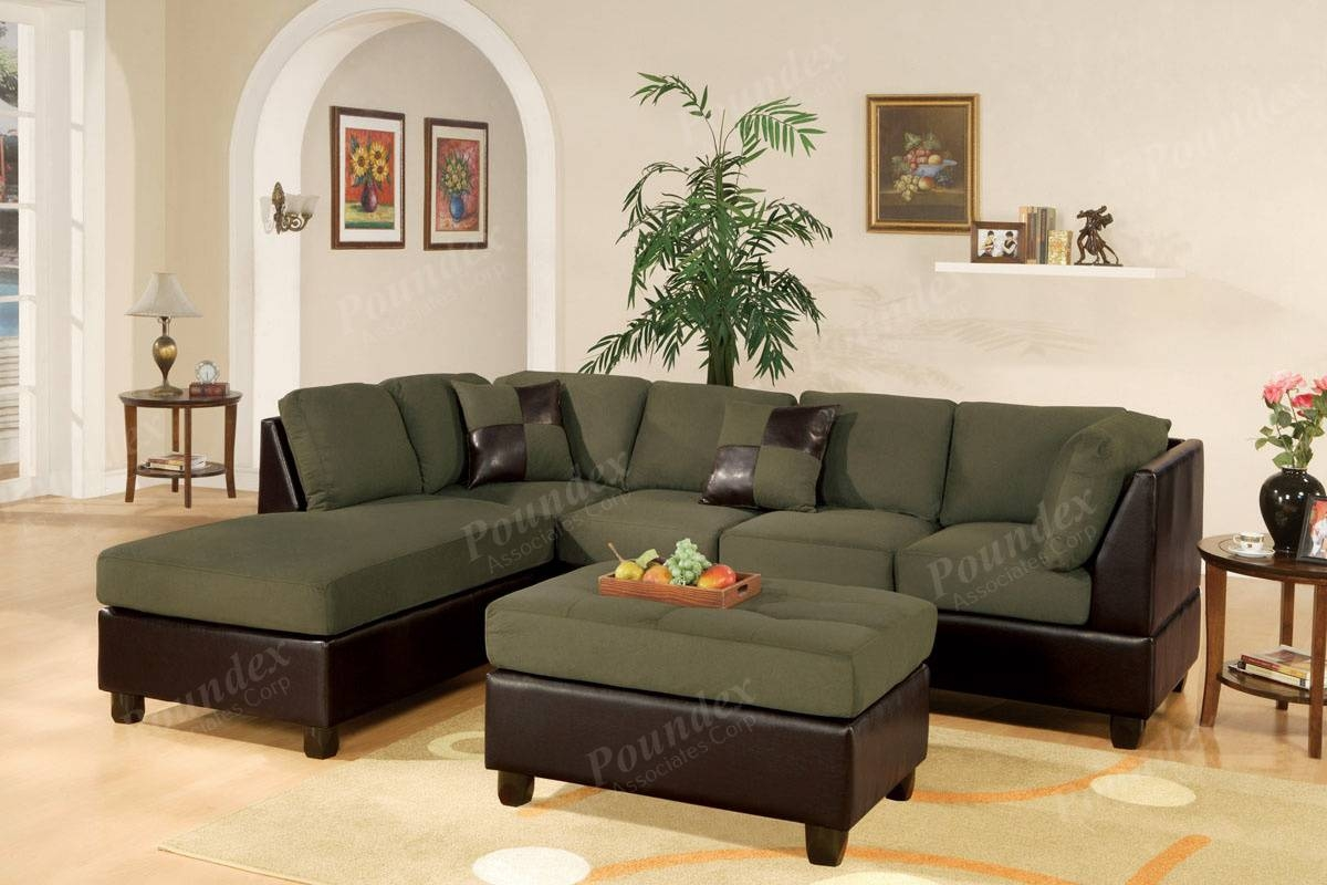 Sectional Sectionals Sofa Couch Loveseat Couches With Free Ottoman within Faux Leather Sectional Sofas (Image 16 of 25)