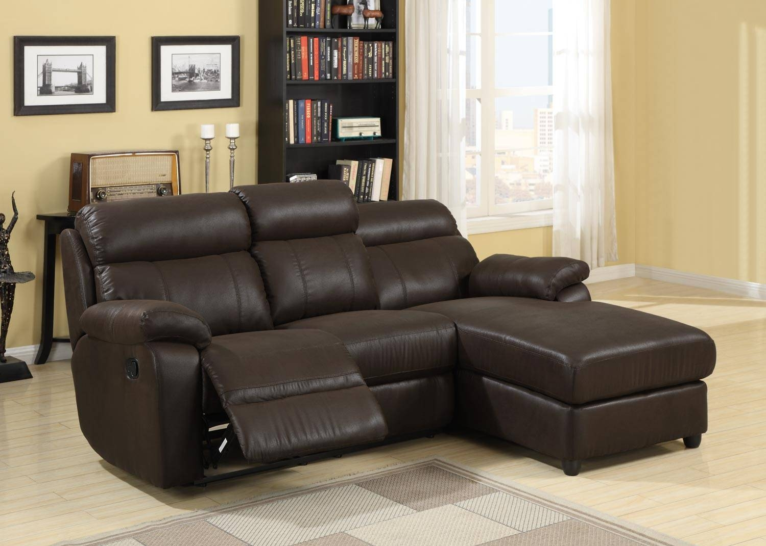 Sectional Sofa With Chaise Lounge And Recliner | Tehranmix Decoration pertaining to Sectional Sofas for Small Spaces With Recliners (Image 16 of 30)