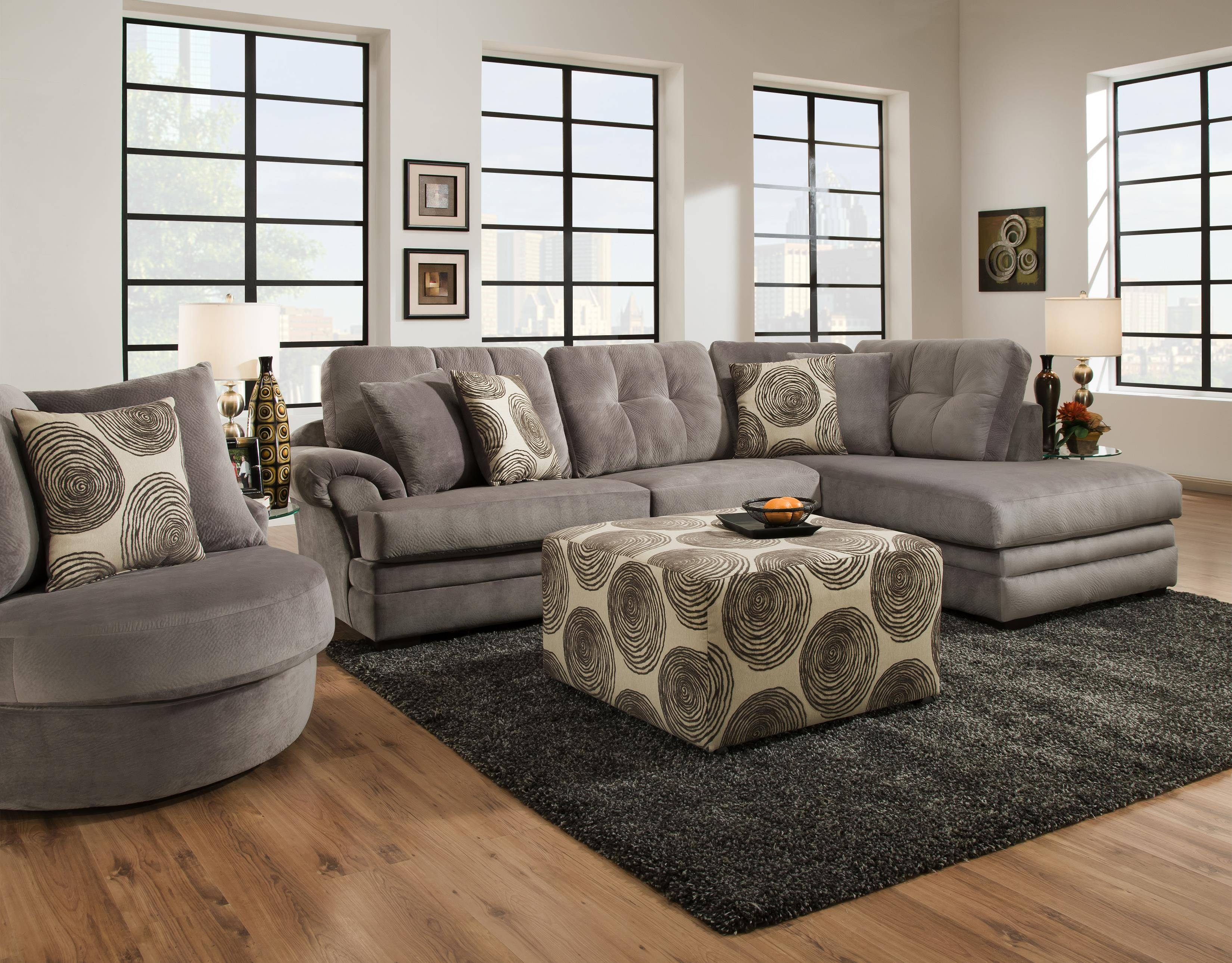 Sectional Sofa With Chaise (On Right Side)Corinthian | Wolf intended for Corinthian Sectional Sofas (Image 24 of 30)