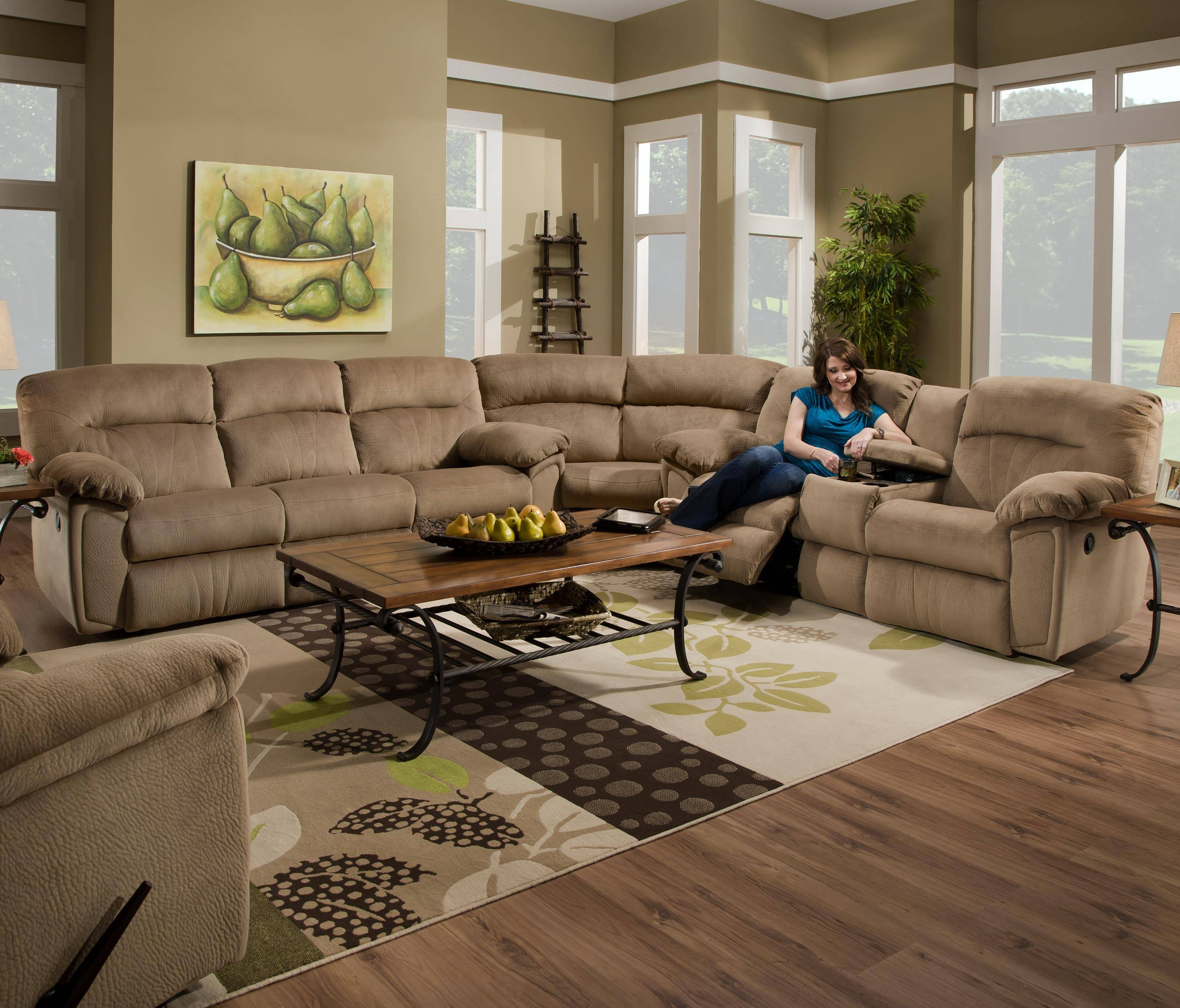 Sectional Sofa With Recliner And Cup Holders | Tehranmix Decoration within Sectional Sofa Recliners (Image 22 of 30)