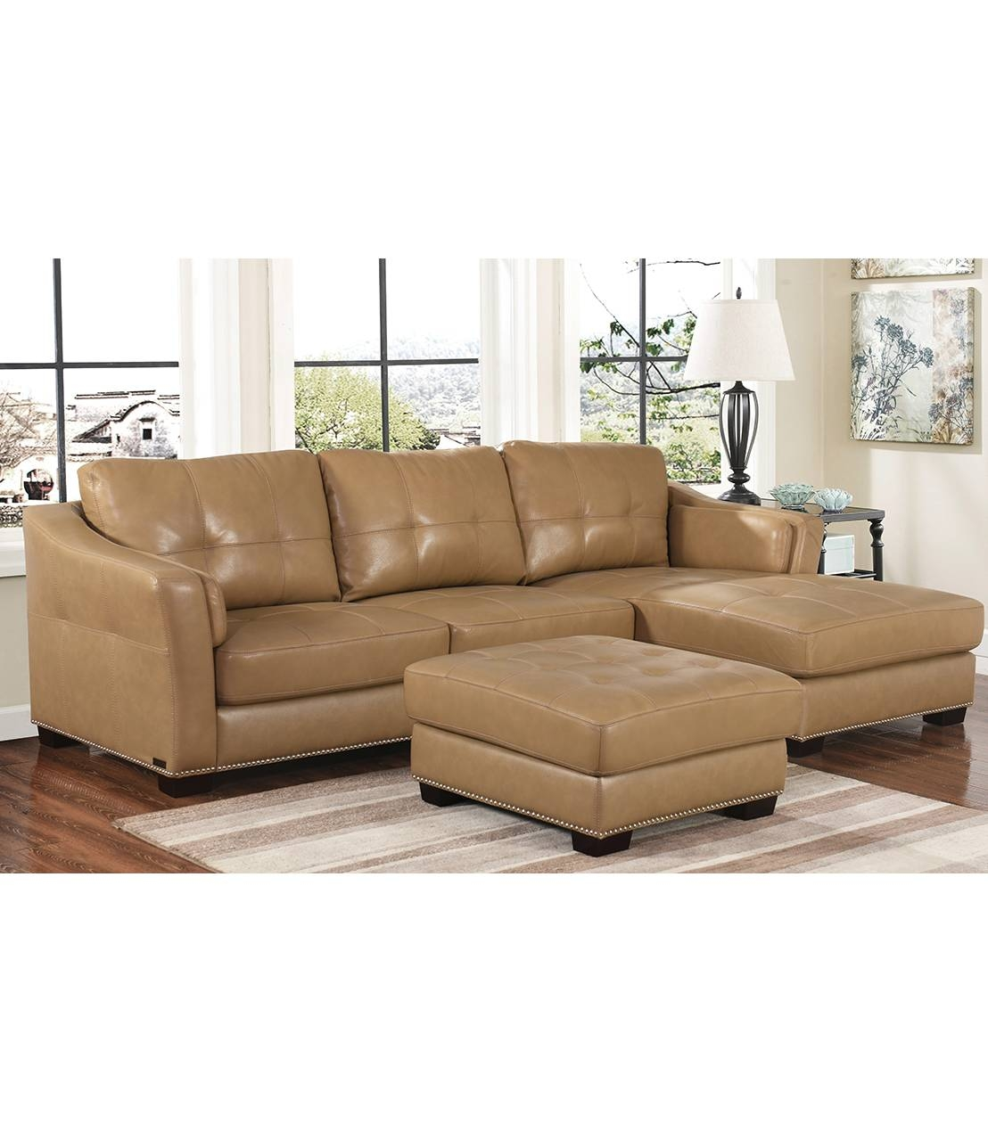 Sectionals : Chelsie Leather Sectional pertaining to Abbyson Sectional Sofa (Image 22 of 30)