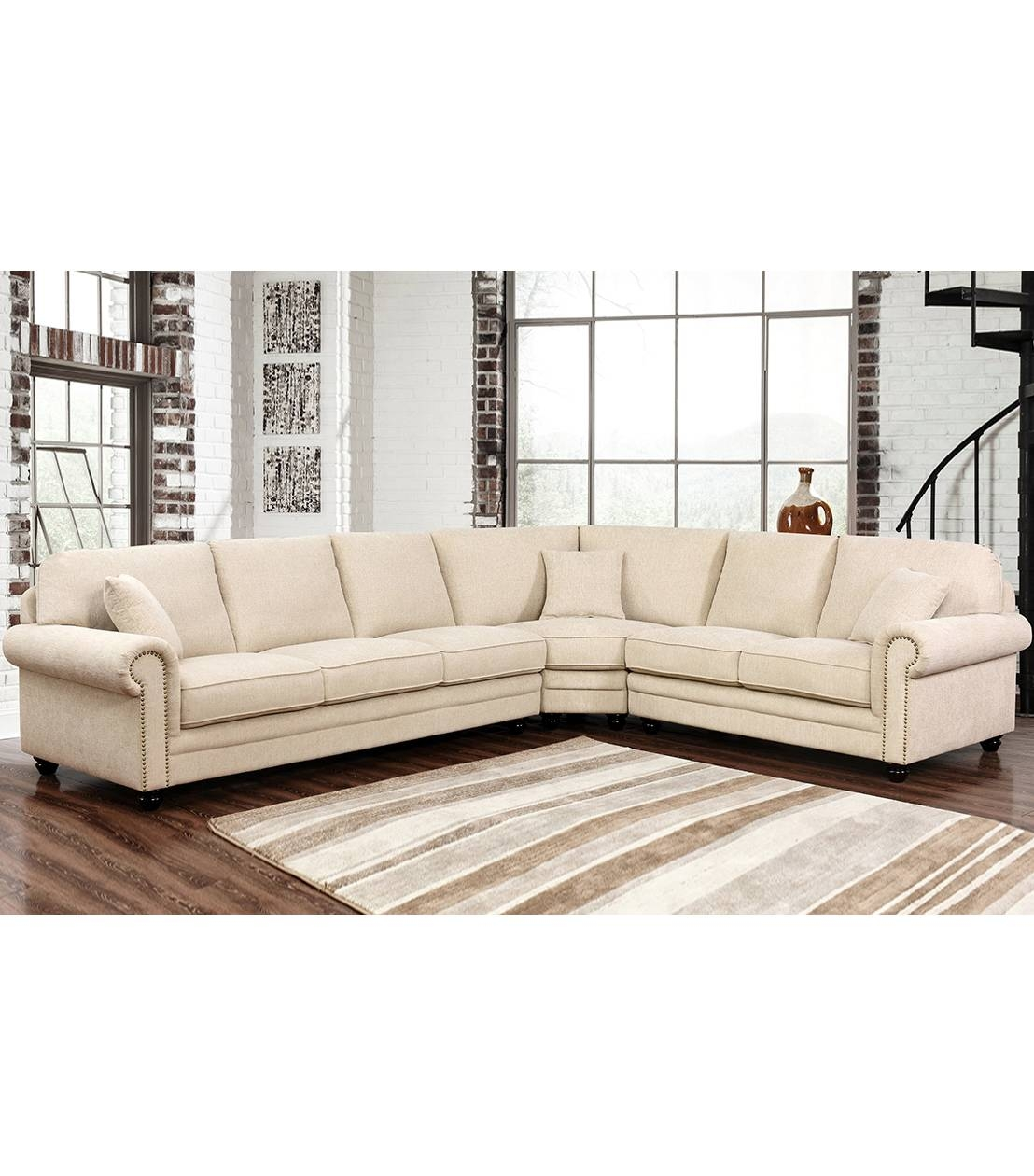 Sectionals : Deana Fabric Sectional within Abbyson Sectional Sofa (Image 23 of 30)