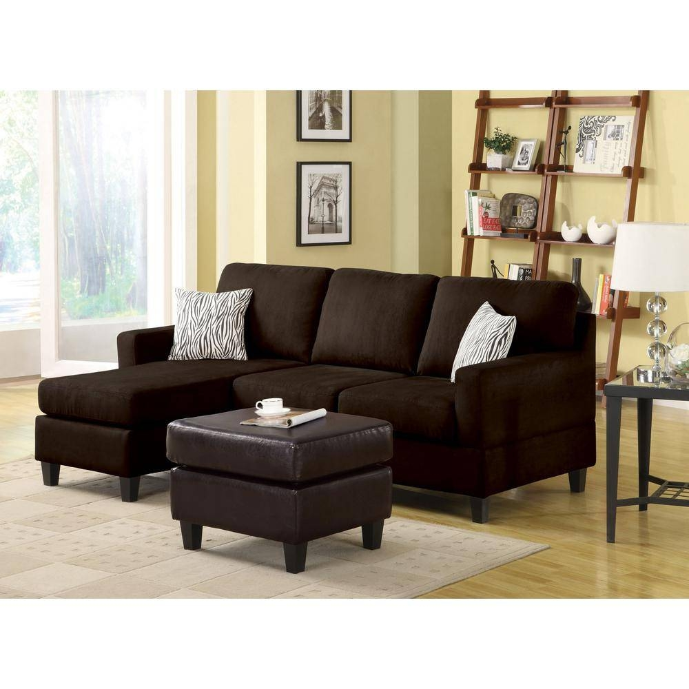 Sectionals - Living Room Furniture - The Home Depot inside Colorful Sectional Sofas (Image 22 of 30)