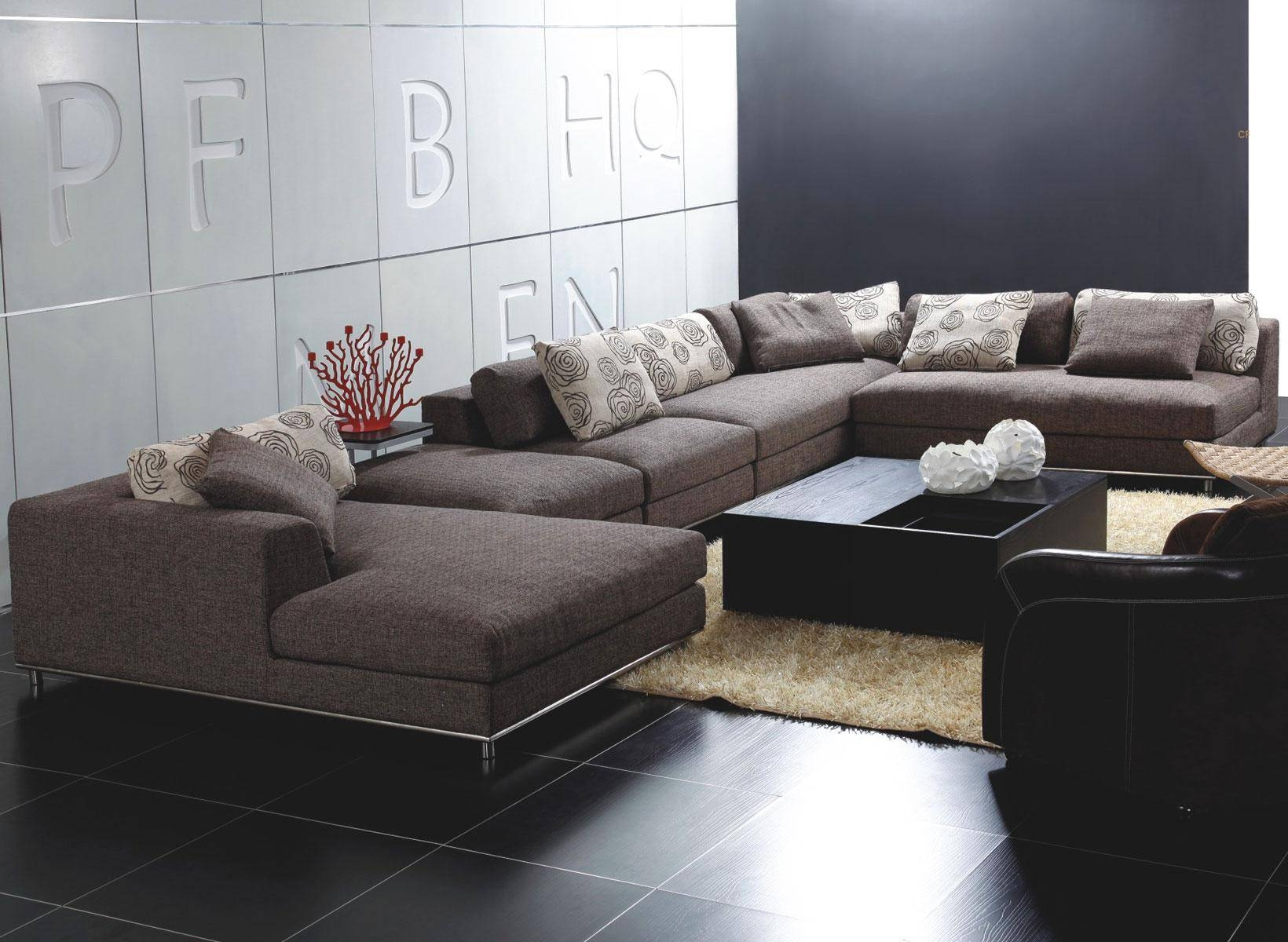Sectionals Modern for Modern Microfiber Sectional Sofa (Image 27 of 30)