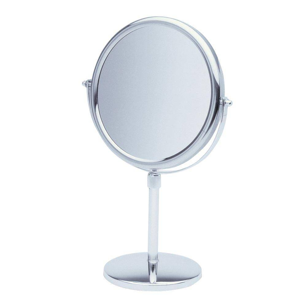 See All 9 In. X 16 In. Round Table Pedestal Makeup Mirror With pertaining to Chrome Mirrors (Image 24 of 25)