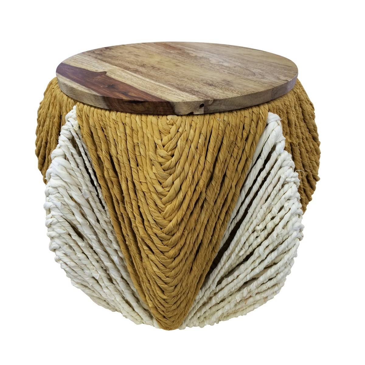 Selamat Justina Blakeney Lala Round Stool With Storage with regard to Jaipur Sheesham Coffee Tables (Image 24 of 30)