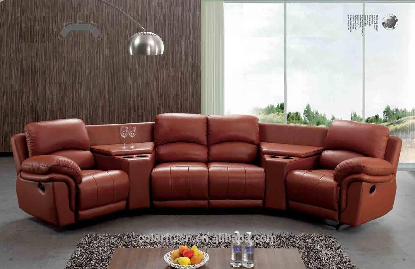 Semi Circle Leather Sofa, Semi Circle Leather Sofa Suppliers And Regarding Circle Sofa Chairs (View 23 of 30)