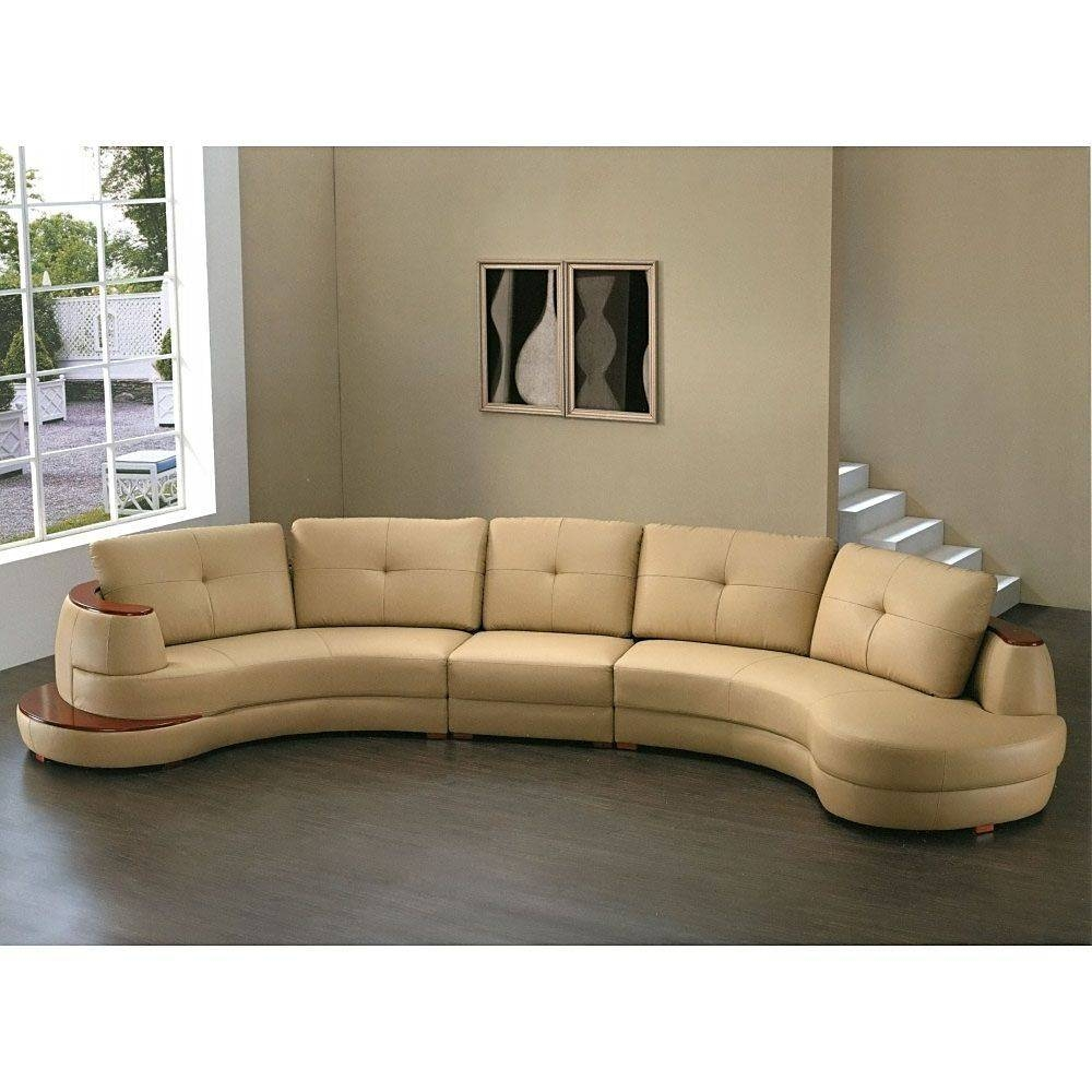 Semi Circle Sectional Sofa - Leather Sectional Sofa regarding Circle Sectional Sofa (Image 20 of 30)
