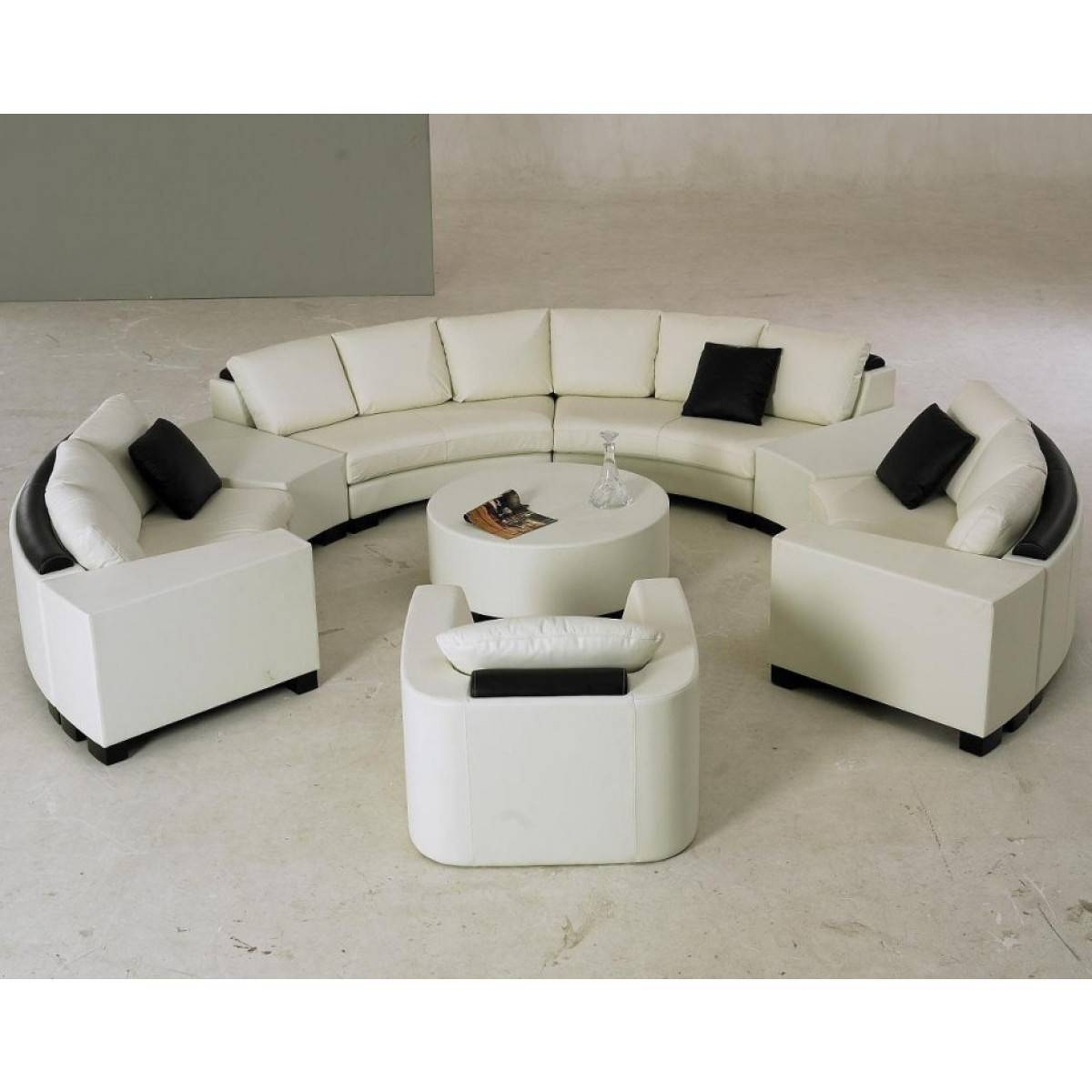 Semi Circle Sofa Bed | Sofas Decoration for Circle Sectional Sofa (Image 21 of 30)