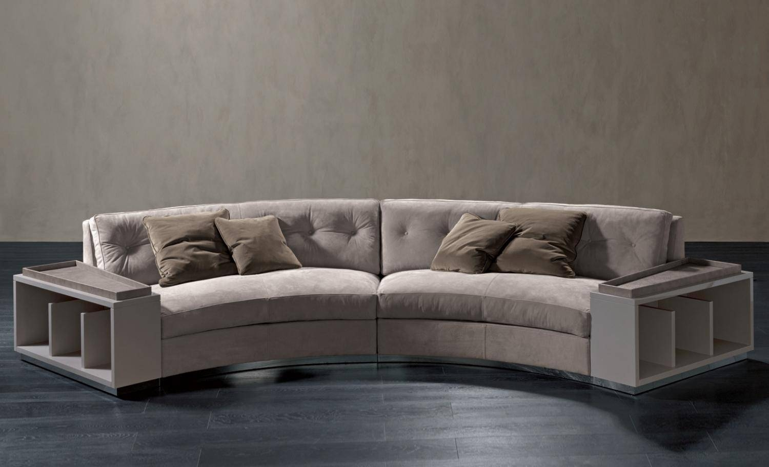 Semi-Circular Sofa In Leather Circus, Rugiano - Luxury Furniture Mr inside Semicircular Sofa (Image 14 of 30)