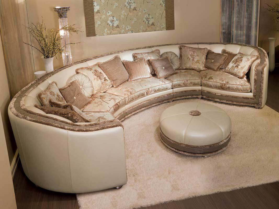 Semi Circular Sofa - Leather Sectional Sofa pertaining to Semicircular Sofa (Image 10 of 30)