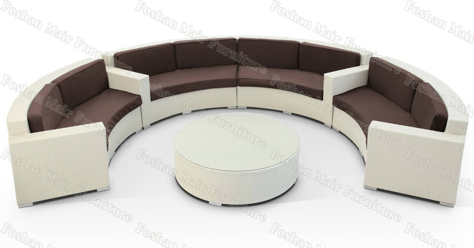 Semicircle Sofa - Leather Sectional Sofa intended for Circle Sofas (Image 19 of 25)