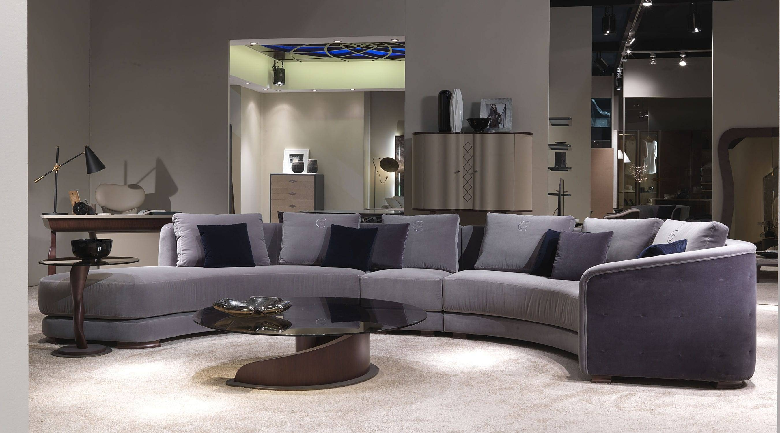 Semicircular Sofa / Contemporary / Fabric / 6-Seater - Di43 Desyo pertaining to Semicircular Sofa (Image 17 of 30)