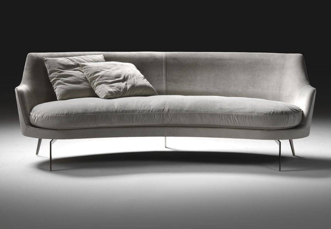 Semicircular Sofa / Contemporary / Leather / Fabric - Guscio regarding Semicircular Sofa (Image 21 of 30)