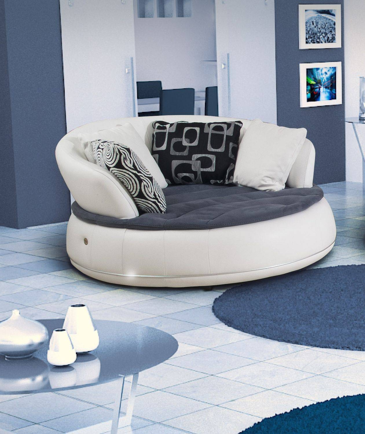 Semicircular Sofa / Round / Contemporary / Leather - Espace - Nieri within Semicircular Sofa (Image 24 of 30)