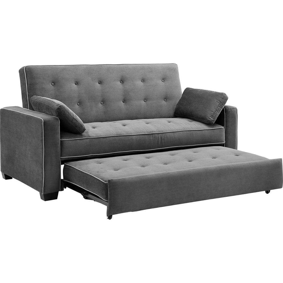 Serta Augustine Convertible Queen-Size Sleeper Sofa | Serta pertaining to Sofa Sleepers Queen Size (Image 14 of 30)