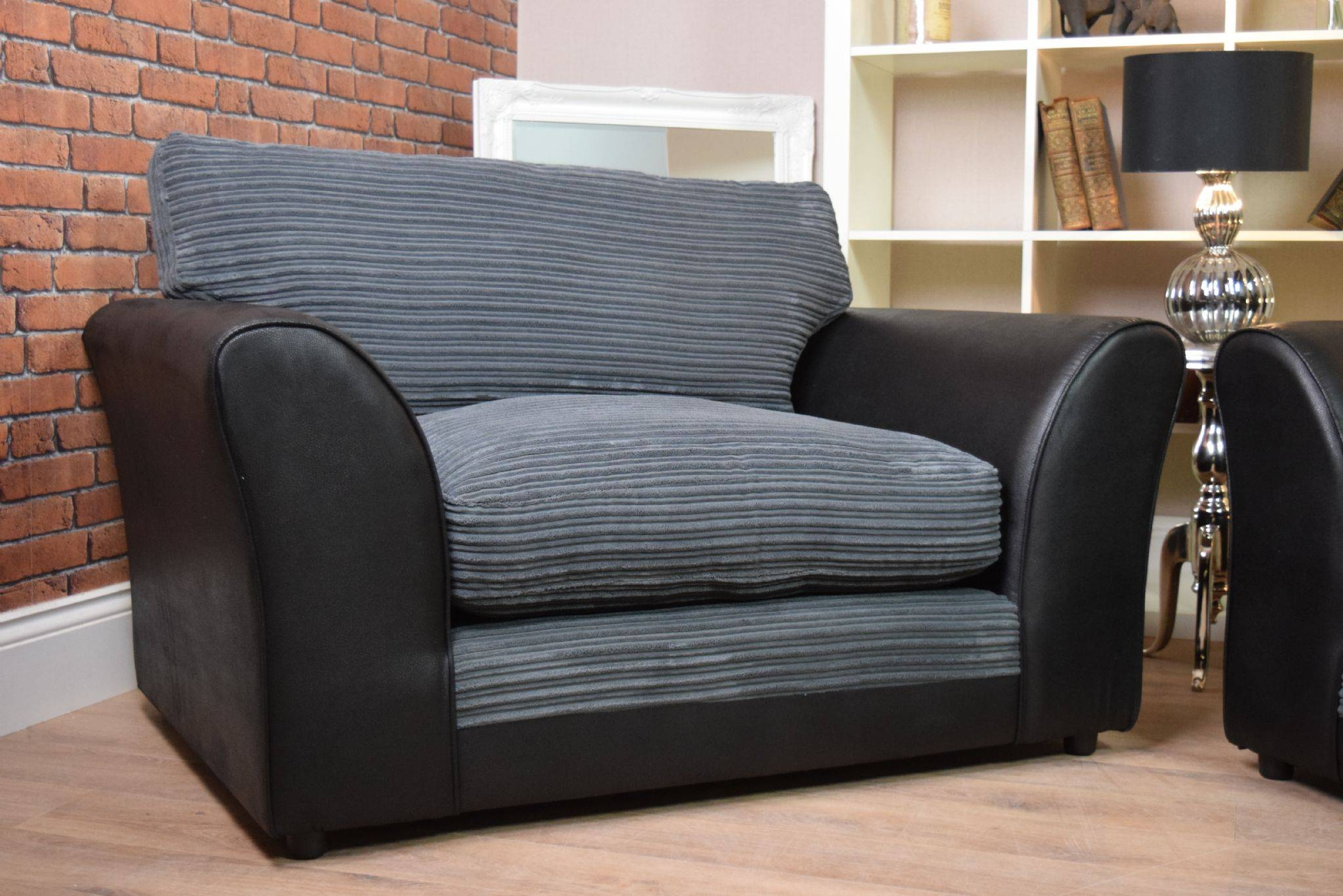 Set Harley Bailey 3 Seater Sofa Cuddle Chair Suite Set – Black Regarding 3 Seater Sofa And Cuddle Chairs (View 18 of 30)