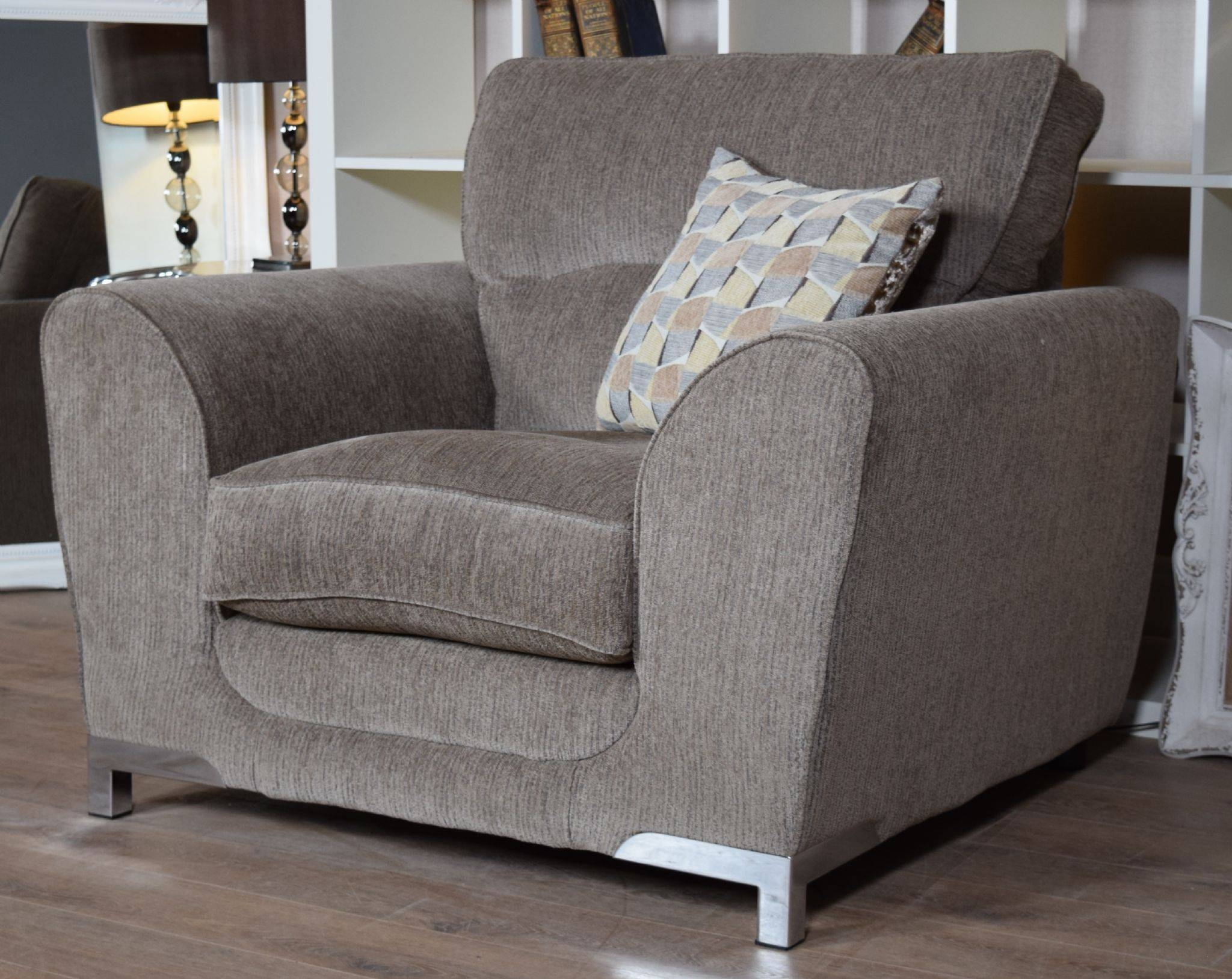 Set Nikki 3 Seater Sofa & Cuddle Chair Suite Set – Mocha Grey Inside 3 Seater Sofa And Cuddle Chairs (View 5 of 30)
