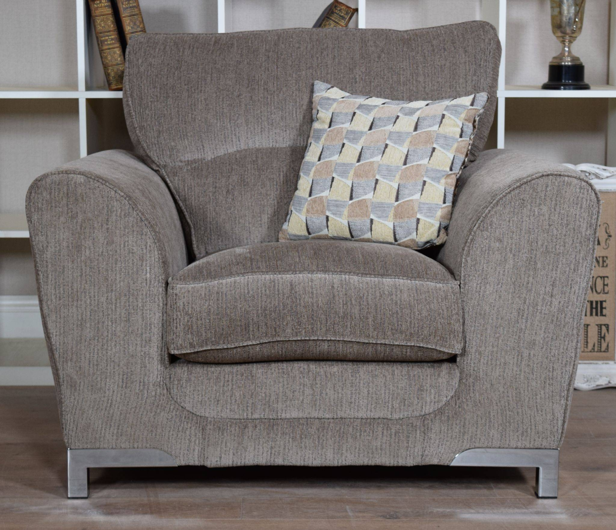 Set Nikki 3 Seater Sofa & Cuddle Chair Suite Set – Mocha Grey Intended For 3 Seater Sofa And Cuddle Chairs (View 11 of 30)