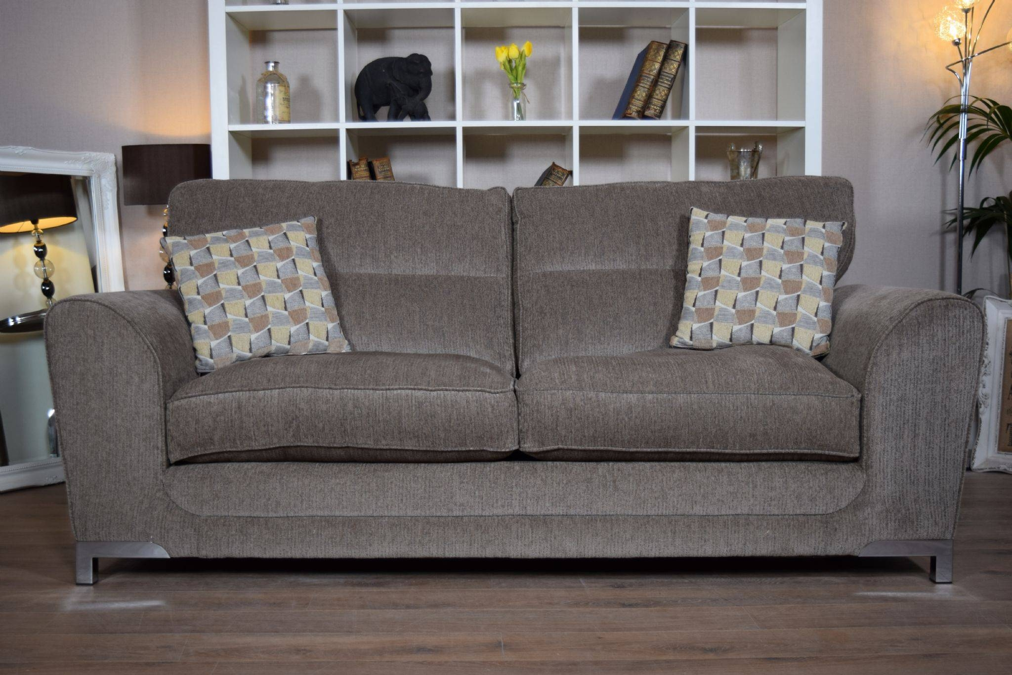 Set Nikki 3 Seater Sofa & Cuddle Chair Suite Set – Mocha Grey Regarding 3 Seater Sofa And Cuddle Chairs (View 12 of 30)