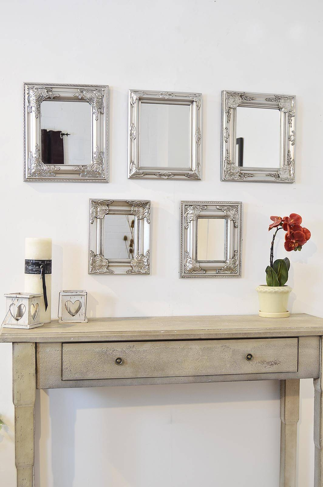 Set Of Mirrors For Wall 38 Breathtaking Decor Plus Round Gold throughout Antique Style Wall Mirrors (Image 22 of 25)
