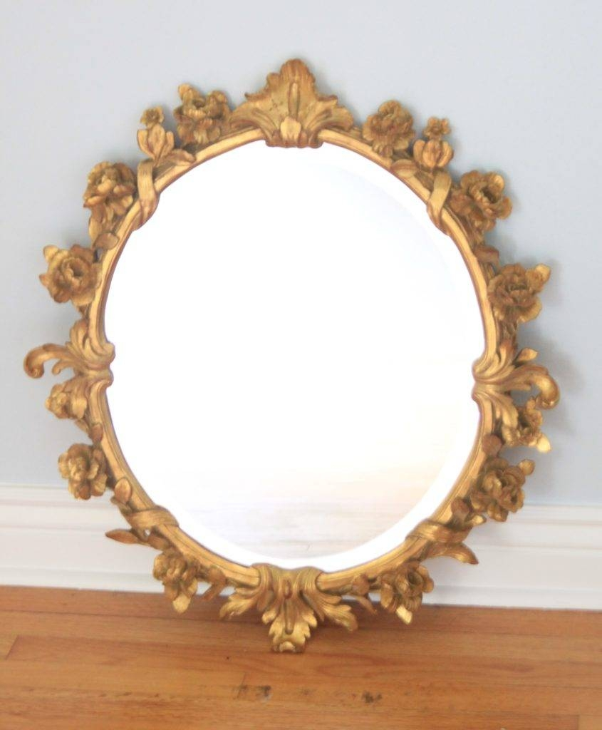 Shabby Chic Antique Bow Mirror Makeover - The Salvaged Boutique within Oval Shabby Chic Mirrors (Image 17 of 25)