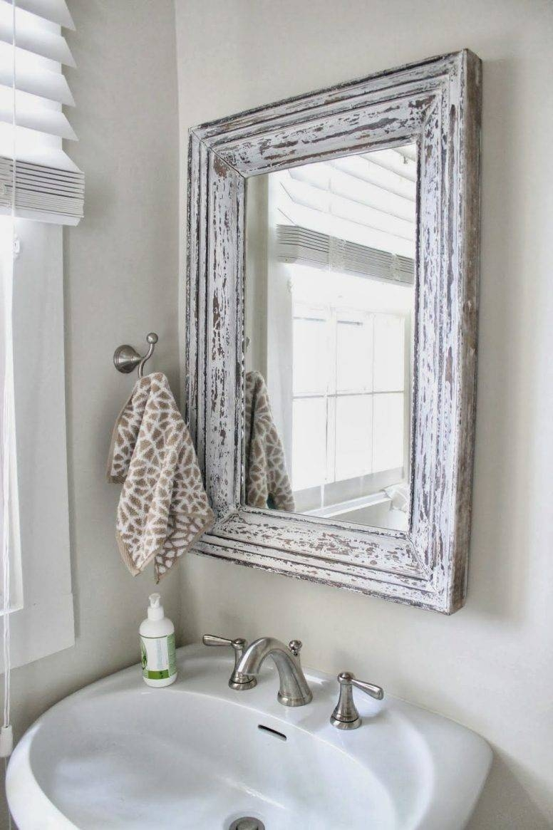 Shabby Chic Bathroom Furniture Rectangle Frame Glass Wall Mirror with regard to White Shabby Chic Wall Mirrors (Image 15 of 25)