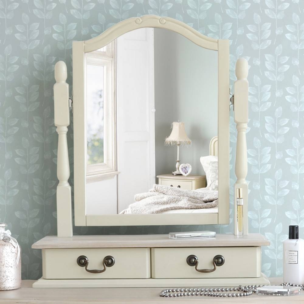 Shabby Chic Champagne Dressing Table with regard to Mirrors Shabby Chic (Image 15 of 25)