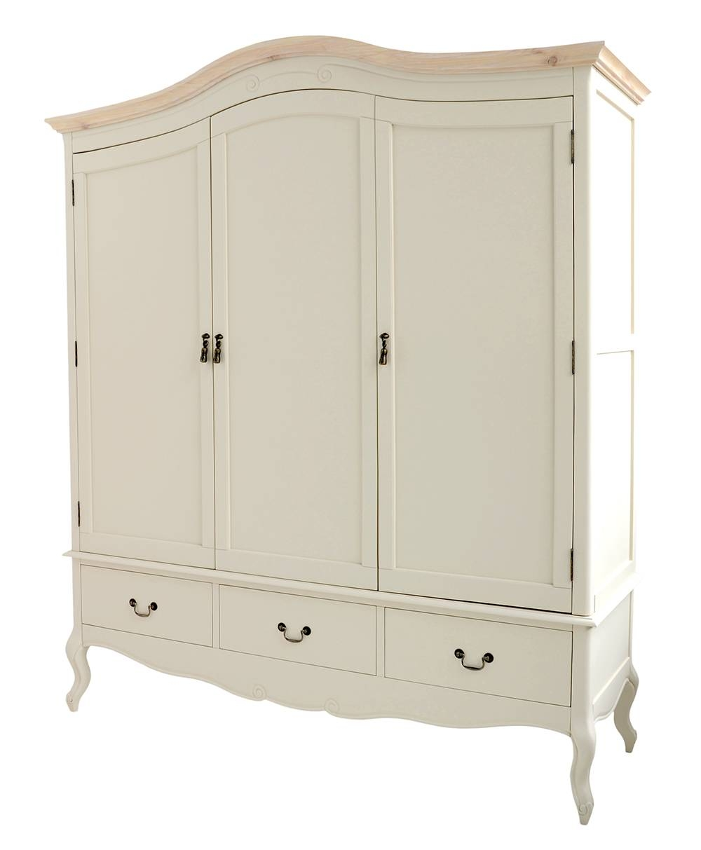 Shabby Chic Champagne Furniture, Cream Chest Of Drawers, Dressing with regard to Wardrobe With Shelves And Drawers (Image 19 of 30)