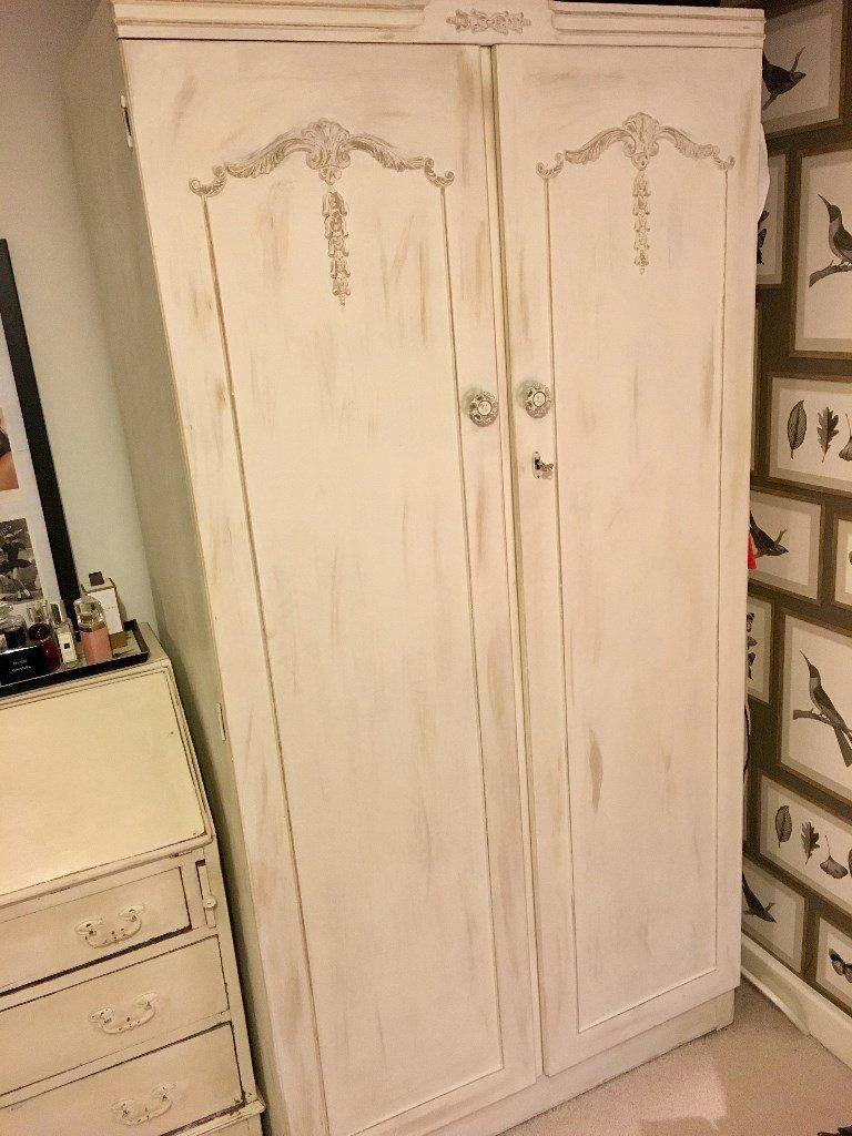 Shabby Chic Cream French Double Wardrobe | In London | Gumtree Intended For Cream French Wardrobes (View 11 of 15)