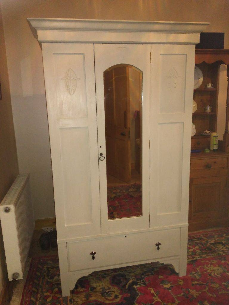Shabby Chic Edwardian Wardrobe For Sale (View 12 of 15)