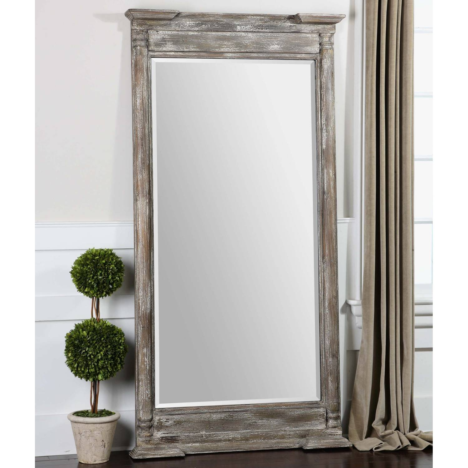 Shabby Chic Floor Mirror 147 Stunning Decor With Extra Large for French Floor Mirrors (Image 19 of 25)